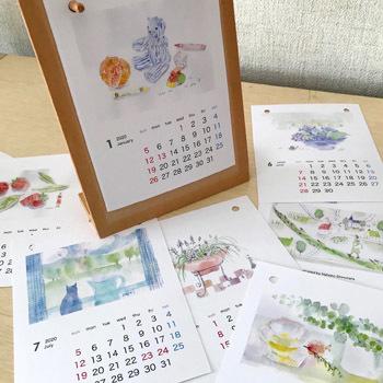 2020年のカレンダー ~水彩でめぐる12か月~_c0138704_21192494.jpg
