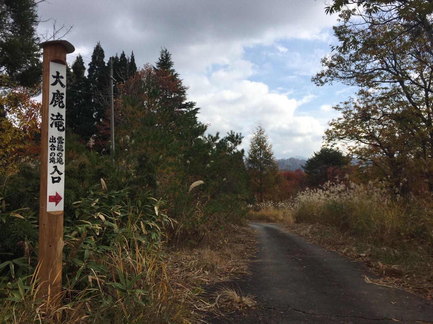 秋のトレッキング   大鹿滝_e0115904_00541198.jpg