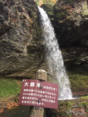 秋のトレッキング   大鹿滝_e0115904_03595379.jpg