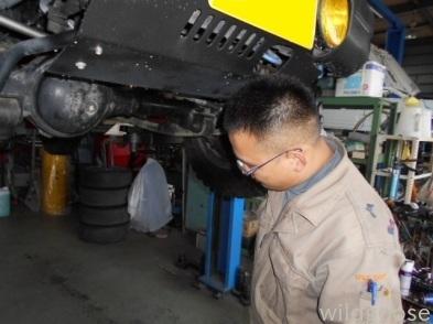 JA12Cジムニー 車検整備中( ゚ー゚)/_c0213517_15413812.jpg