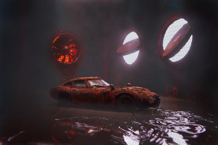 錆びだらけのトヨタ2000GT_b0175635_11144616.jpg