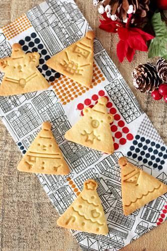 クリスマスさんかくクッキー_a0165538_10040075.jpg