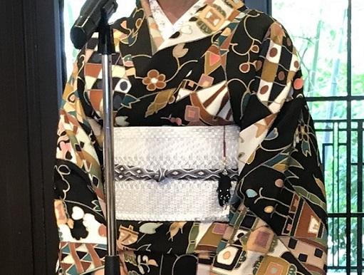 11周年・鬼しぼ縮緬小紋に博多琥珀織帯の青森のお客様。_f0181251_17430281.jpg