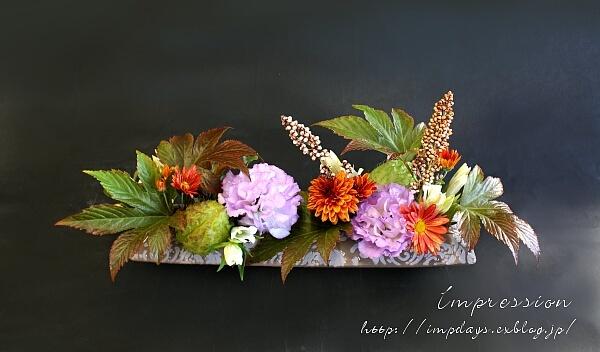 定期装花から トルコギキョウ オーキッド_a0085317_16123540.jpg