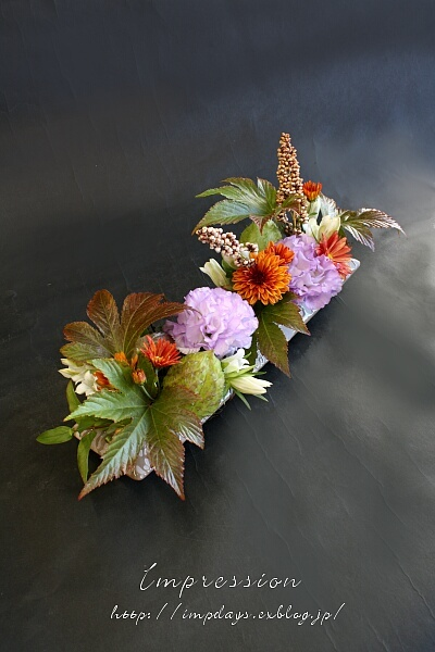 定期装花から トルコギキョウ オーキッド_a0085317_16123926.jpg