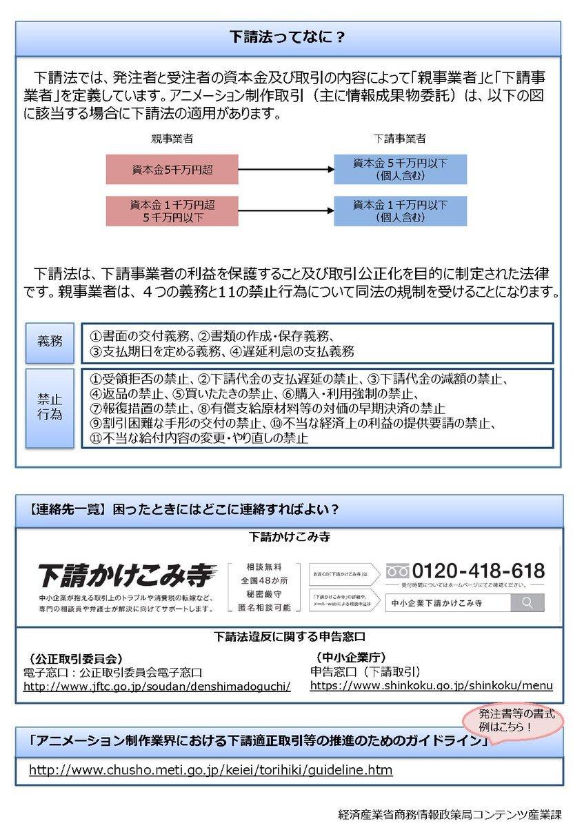 2019年8月 アニメーション制作業界下請適正取引ガイドラインが改訂_c0024539_15352617.jpg