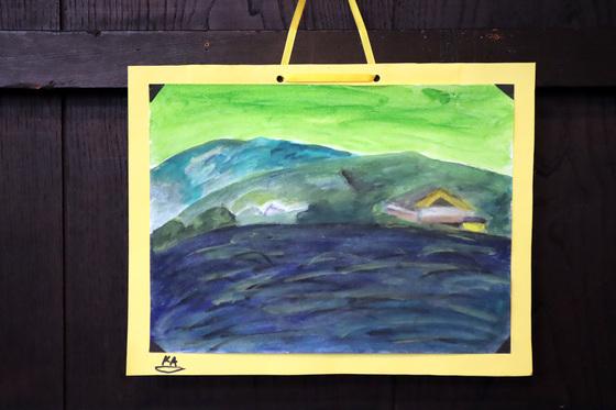 水彩画 ~ 嵐山 ~_e0222340_15444928.jpg