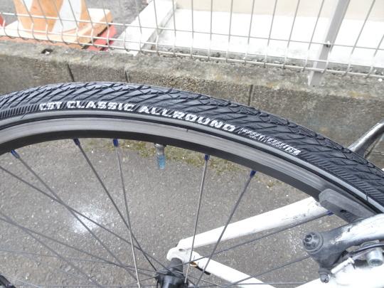 クロスバイク タイヤ交換~ロードバイク カスタム~_e0140354_15233533.jpg