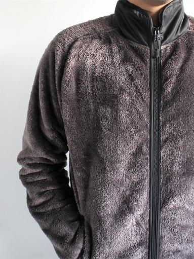 Needles Sportswear Piping Jacket - Micro Fleece / Grey_b0139281_12554250.jpg