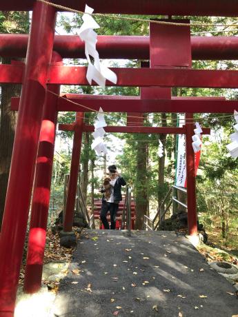 山梨旅行。新屋山神社。_b0370192_20255395.jpg