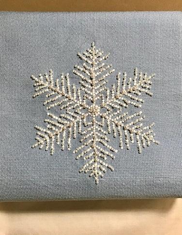 商品紹介・貴久樹パール雪の結晶八寸Xmas・藤井絞羽織。_f0181251_17355321.jpg