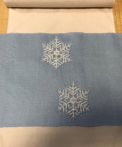 商品紹介・貴久樹パール雪の結晶八寸Xmas・藤井絞羽織。_f0181251_17434775.jpg