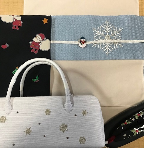 商品紹介・貴久樹パール雪の結晶八寸Xmas・藤井絞羽織。_f0181251_17465071.jpg
