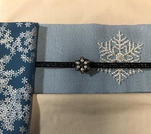 商品紹介・貴久樹パール雪の結晶八寸Xmas・藤井絞羽織。_f0181251_17514401.jpg