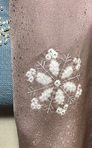 商品紹介・貴久樹パール雪の結晶八寸Xmas・藤井絞羽織。_f0181251_17560099.jpg