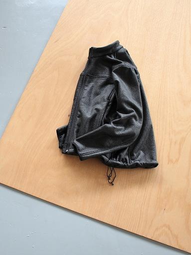 Needles Sportswear Warm-Up Stand Collar Jac - Synthetic Mouton / Black_b0139281_12231076.jpg