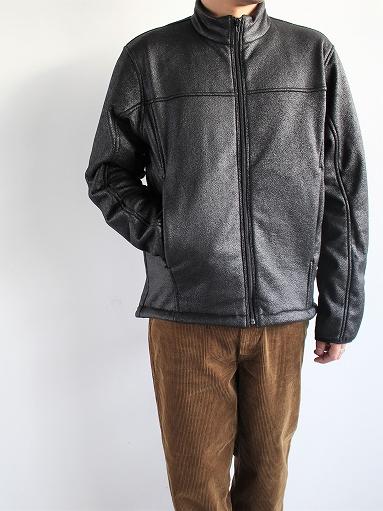 Needles Sportswear Warm-Up Stand Collar Jac - Synthetic Mouton / Black_b0139281_12232393.jpg