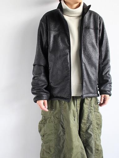 Needles Sportswear Warm-Up Stand Collar Jac - Synthetic Mouton / Black_b0139281_12232759.jpg