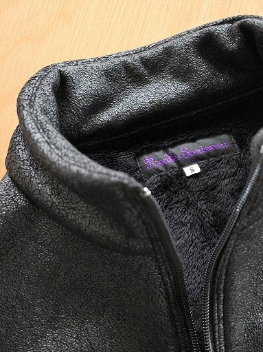 Needles Sportswear Warm-Up Stand Collar Jac - Synthetic Mouton / Black_b0139281_12234511.jpg