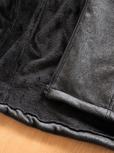 Needles Sportswear Warm-Up Stand Collar Jac - Synthetic Mouton / Black_b0139281_12235029.jpg
