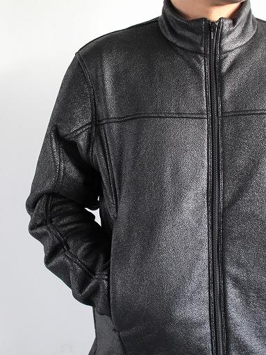 Needles Sportswear Warm-Up Stand Collar Jac - Synthetic Mouton / Black_b0139281_12235752.jpg