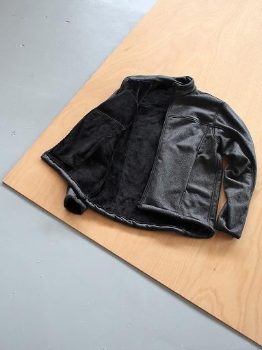 Needles Sportswear Warm-Up Stand Collar Jac - Synthetic Mouton / Black_b0139281_12242137.jpg