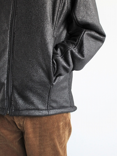 Needles Sportswear Warm-Up Stand Collar Jac - Synthetic Mouton / Black_b0139281_1224277.jpg