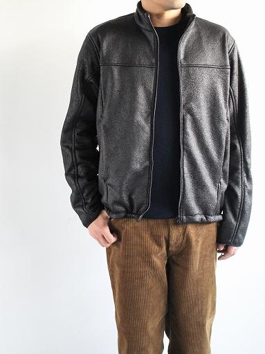 Needles Sportswear Warm-Up Stand Collar Jac - Synthetic Mouton / Black_b0139281_12243441.jpg