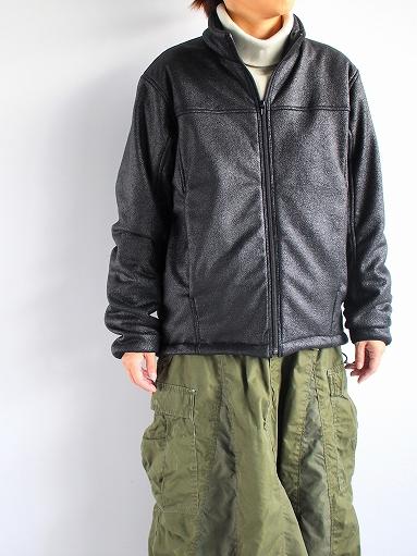 Needles Sportswear Warm-Up Stand Collar Jac - Synthetic Mouton / Black_b0139281_12243997.jpg