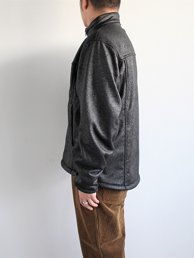 Needles Sportswear Warm-Up Stand Collar Jac - Synthetic Mouton / Black_b0139281_12244611.jpg