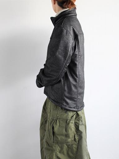 Needles Sportswear Warm-Up Stand Collar Jac - Synthetic Mouton / Black_b0139281_1224548.jpg