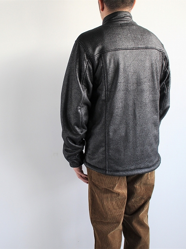 Needles Sportswear Warm-Up Stand Collar Jac - Synthetic Mouton / Black_b0139281_12245829.jpg
