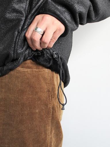 Needles Sportswear Warm-Up Stand Collar Jac - Synthetic Mouton / Black_b0139281_1224985.jpg