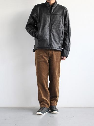 Needles Sportswear Warm-Up Stand Collar Jac - Synthetic Mouton / Black_b0139281_12253663.jpg