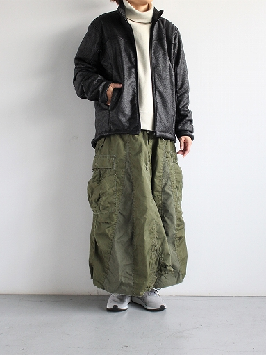 Needles Sportswear Warm-Up Stand Collar Jac - Synthetic Mouton / Black_b0139281_12254834.jpg