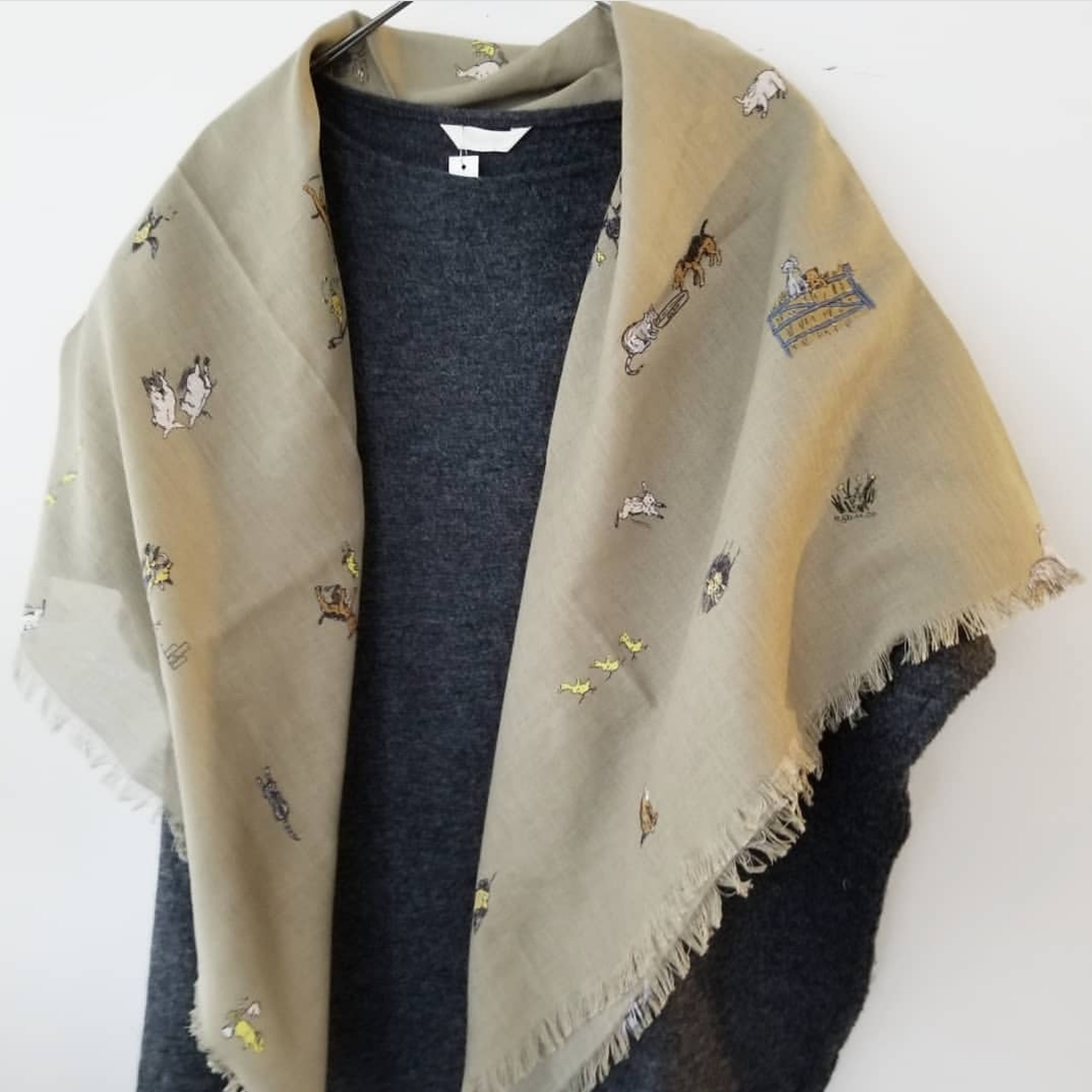 R&D.M.Co-Farmers family gauze shawl_f0120026_23335297.jpg