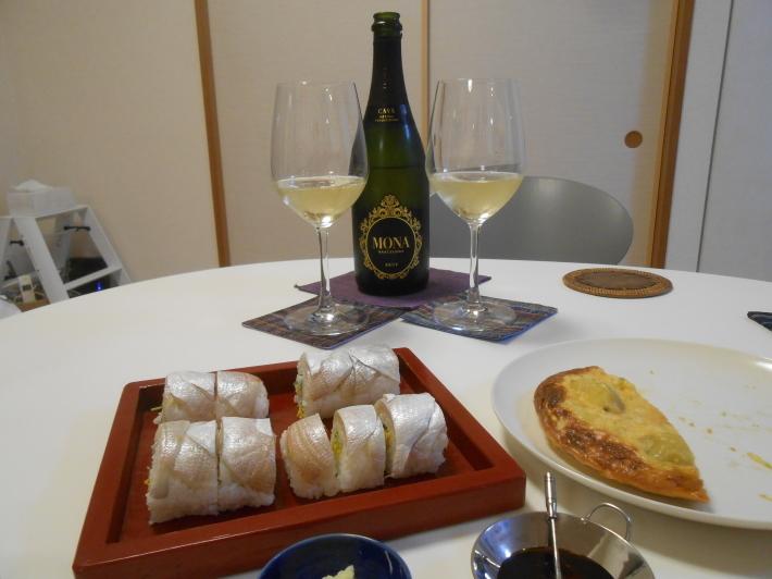 漬物でビール。鯛す寿司でカヴァ。_a0095931_21355500.jpg