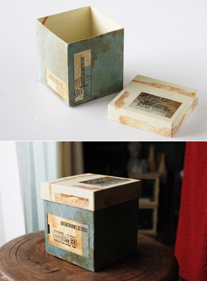紙モノリメイク☆紙箱でつくる「コラージュボックス」_d0351435_23043018.jpg
