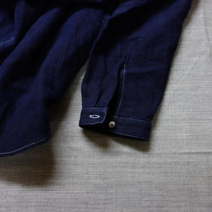2月の製作 / antiqued german linen shirt Ⅱ_e0130546_16595080.jpg