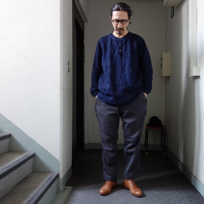 2月の製作 / antiqued german linen shirt Ⅱ_e0130546_17025236.jpg