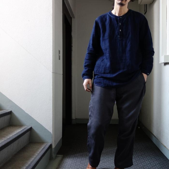 2月の製作 / antiqued german linen shirt Ⅱ_e0130546_17032360.jpg