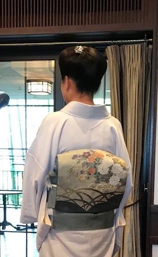 11周年・露芝に源氏香の着物に、菊や秋の草花の袋帯。_f0181251_17531101.jpg