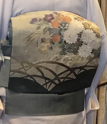 11周年・露芝に源氏香の着物に、菊や秋の草花の袋帯。_f0181251_18130668.jpg