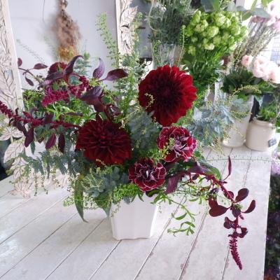 オークリーフ花の教室(甘艸さんと大草さんの作品)_f0049672_19401036.jpg