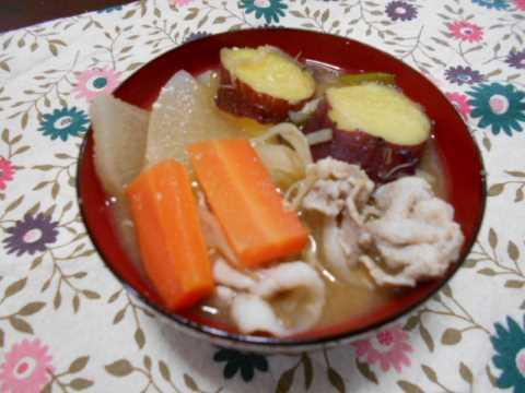 ステーキ&野菜いっぱいの豚汁_f0019498_17345398.jpg