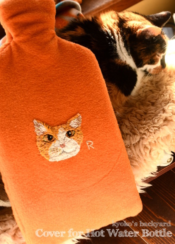 Sandy印の刺繍入り湯たんぽカバー_b0253205_05515835.jpg