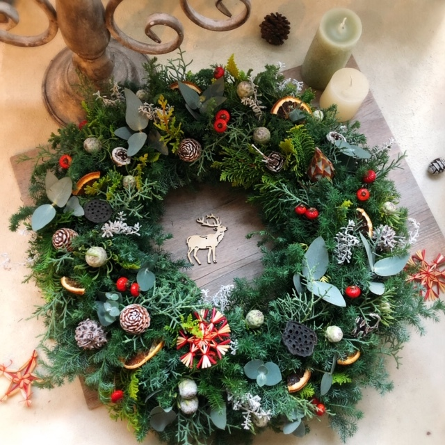 クリスマスフレッシュリースレッスン_e0128024_05194460.jpg