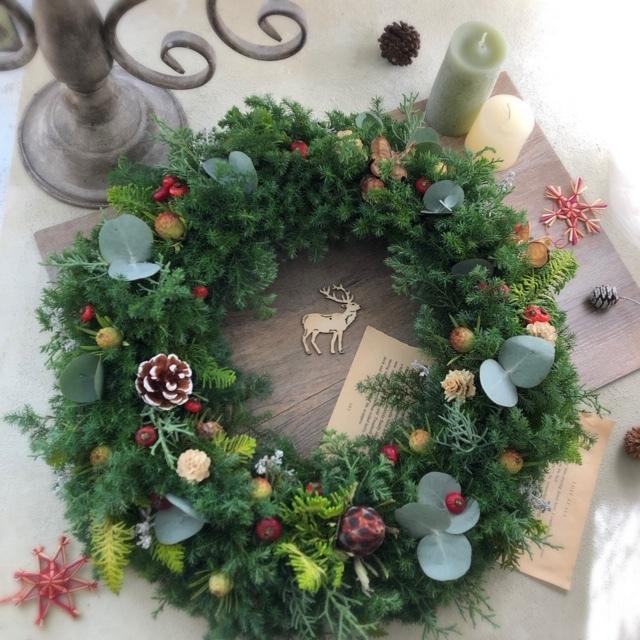 クリスマスフレッシュリースレッスン_e0128024_05195668.jpg