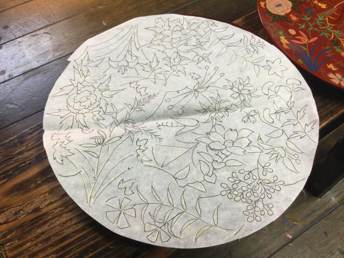 7寸皿の絵付け_e0130334_15131867.jpg