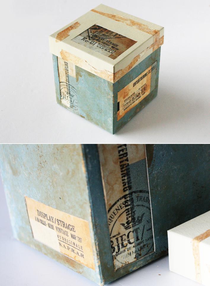 紙モノリメイク☆紙箱でつくる「コラージュボックス」_d0351435_05503328.jpg
